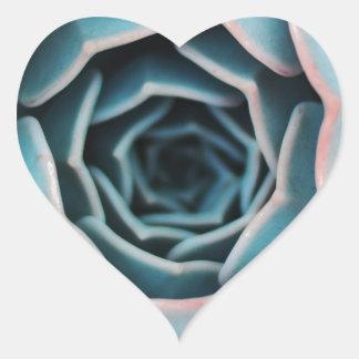 Flower Macro Close-Up Amazing Unisex Floral Print Heart Sticker