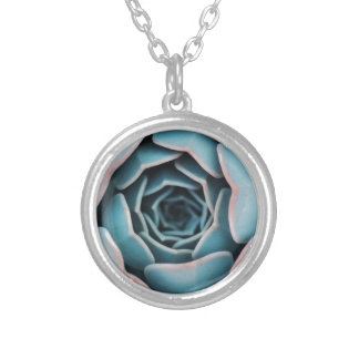 Flower Macro Close-Up Amazing Unisex Floral Print Silver Plated Necklace