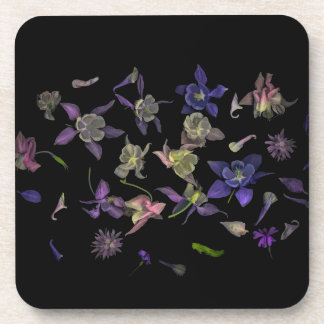 Flower Magic coasters with cork back - set of 6