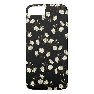 Flower Magnolia(Black) iPhone case