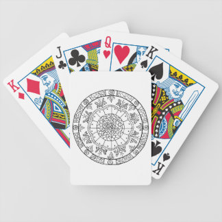 Flower Mandala Bicycle Playing Cards