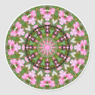 Flower Mandala, Bleeding Hearts 02.0_rd Classic Round Sticker