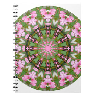 Flower Mandala, Bleeding Hearts 02.0_rd Spiral Notebook