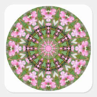 Flower Mandala, Bleeding Hearts 02.0_rd Square Sticker