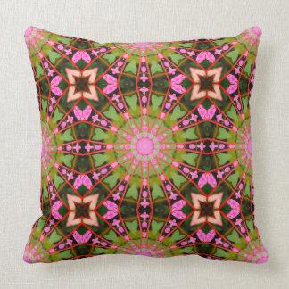 Flower Mandala, Bleeding Hearts 02.0_rd Throw Pillow