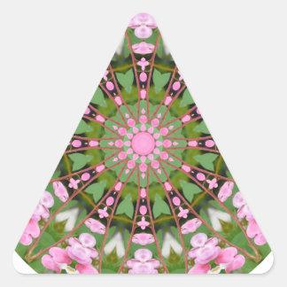 Flower Mandala, Bleeding Hearts 02.0_rd Triangle Sticker