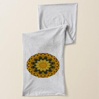 Flower-Mandala, Brown Eye Susans 02.2 Scarf