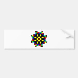 Flower mandala bumper sticker