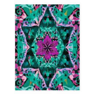 Flower Mandala by Amelia Carrie Postcard