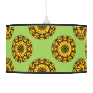 Flower-Mandala, California Poppies Pendant Lamp