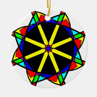 Flower mandala ceramic ornament