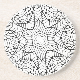 Flower Mandala Color-in Drink Coaster