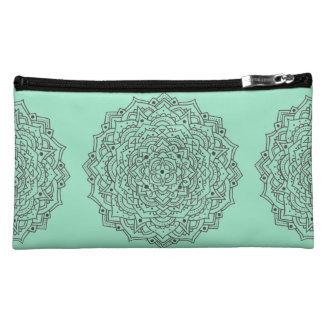 Flower Mandala Cosmetic Bag