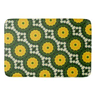 Flower-Mandala, Daisies 02.2 Bath Mat