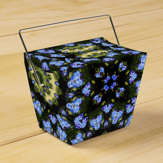 Flower Mandala, Forget-me-nots Wedding Favor Box