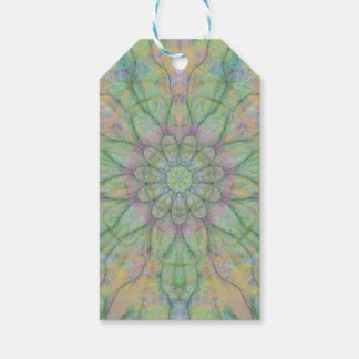 Flower mandala gift tags