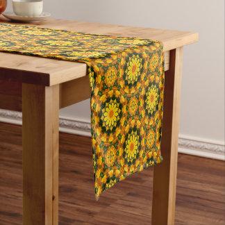 Flower-Mandala, golden poppies, Californian poppy Short Table Runner