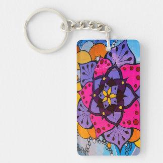 Flower Mandala Keychain
