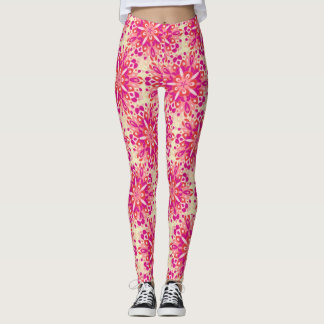 Flower mandala leggins leggings