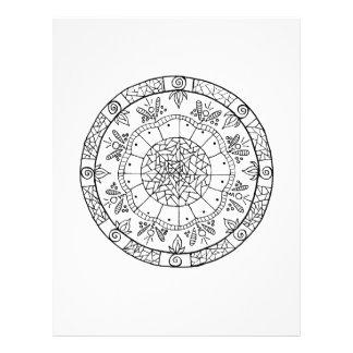 Flower Mandala Letterhead