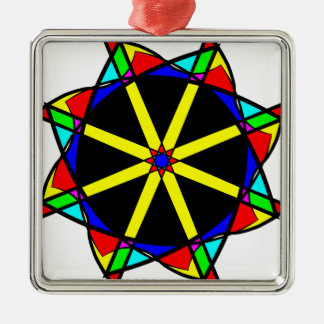 Flower mandala metal ornament