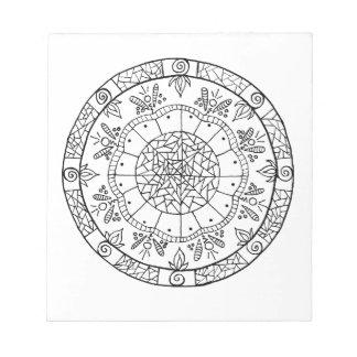 Flower Mandala Notepad