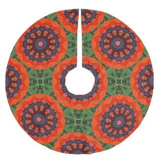 Flower Mandala, red poppies for christmas 2.1 Brushed Polyester Tree Skirt