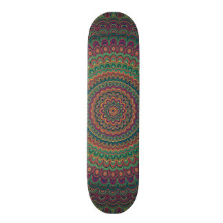 Flower mandala skate decks
