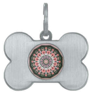 Flower Mandala, Tulips Pet ID Tag