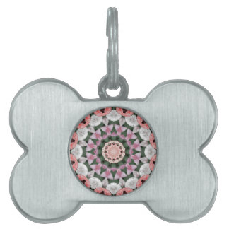 Flower Mandala, Tulips Pet Name Tags