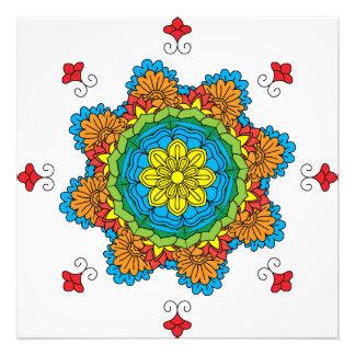 Flower Mandala. Vintage decorative elements. Orie Photo Print