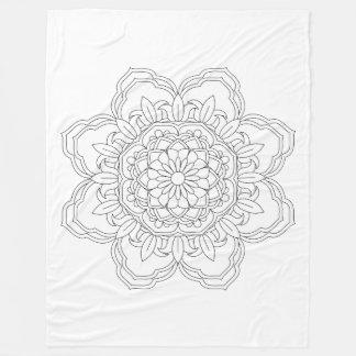 Flower Mandala. Vintage decorative elements. Orien Fleece Blanket