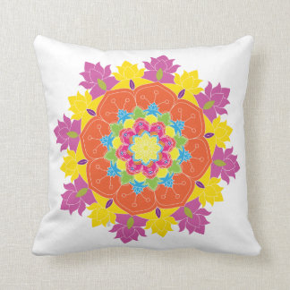 Flower Mandala, Vintage decorative elements, Orien Throw Pillow
