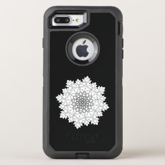 Flower Mandala. Vintage decorative elements. OtterBox Defender iPhone 8 Plus/7 Plus Case