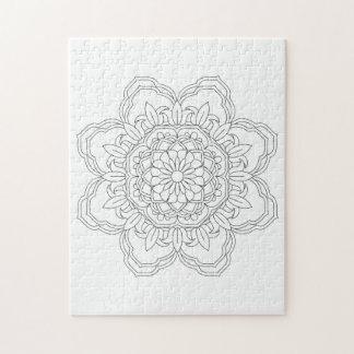 Flower Mandalas. Vintage decorative elements. Orie Jigsaw Puzzle