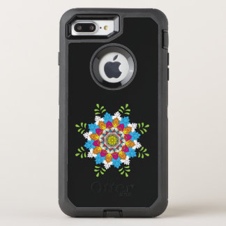 Flower Mandalas. Vintage decorative elements. Orie OtterBox Defender iPhone 8 Plus/7 Plus Case