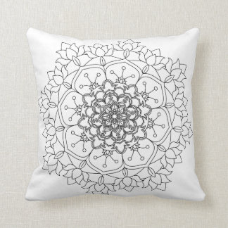 Flower Mandalas. Vintage decorative elements. Orie Throw Pillow