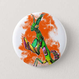 Flower Mantis Button