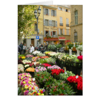 Flower Market in Aix en Provence, France Card