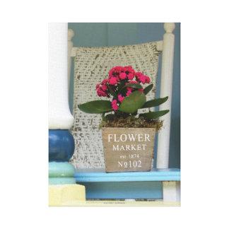 Flower Market - Martha's Vineyard Cottage Porch Canvas Print