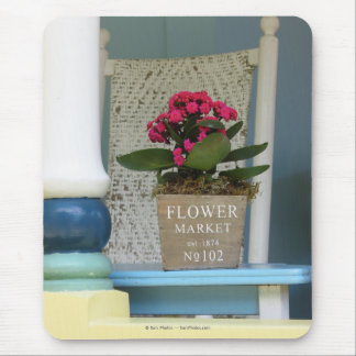 Flower Market - Martha's Vineyard Cottage Porch Mouse Pad