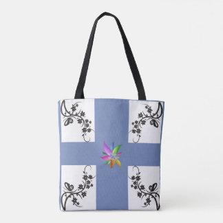 Flower Matrix Tote Bag