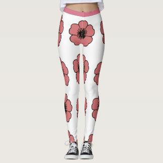 Flower-Me-Peach-Floral_LEGGING'S_XS-XL Leggings