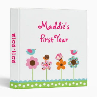 Flower Meadow Baby Photo Album Scrapbook 3 Ring Binders