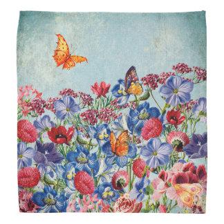Flower Meadow - Floral Vintage Watercolor Bandana