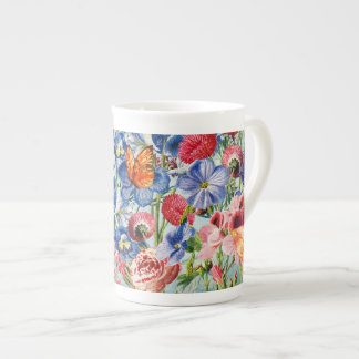 Flower Meadow - Floral Vintage Watercolor Tea Cup