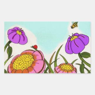Flower Meadow Stickers - Set of 20