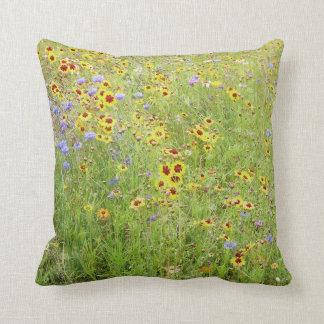 Flower Meadow Throw Pillow