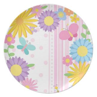 Flower Melamine Plate