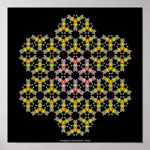 Flower Molecule Poster